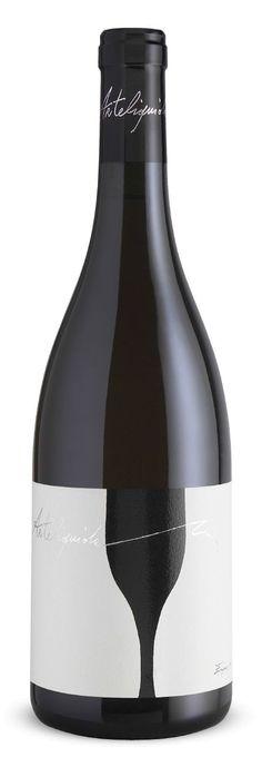 Botella de #vino de la #Toscana, #Arteliquido bianco