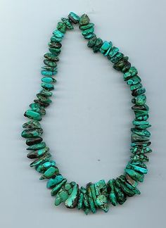 Real Turquoise Loose Nugget Beads Blue to Green 16 Inch Strand