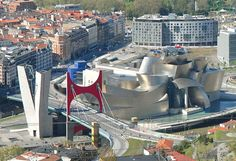 The Guggenheim Museum is a modern and contemporary art museum in Bilbao, Basque Country, Spain.  It was opened by King Juan Carlos I on 18 October 1997.