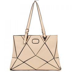 Color Block and Split Joint Design Women's Shoulder Bag, BEIGE in Shoulder Bags   DressLily.com