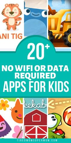 Android and Apple Apps For Kids That Don't Require Wifi or Data To Use. Great Apps For Summer Travel On The Road Or In The Air. Keep kids entertained when waiting in a doctors office too! The possibilities of no wifi required apps are endless. Toddler Learning, Toddler Activities, Learning Activities, Learning Apps For Toddlers, Educational Games For Toddlers, Learning Time, Best Toddler Apps, Baby Apps, Tired Mom