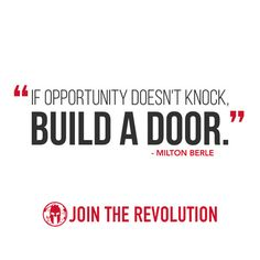 If Opportunity Doesnt Knock... Wisdom from @SpartanRace