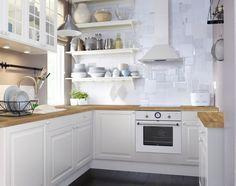 Propozycje aranżacji kuchennych, proponowane przez sklep Ikea