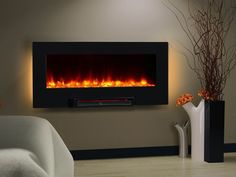 """Wall Mount Electric Fireplace Heater Insert 36"""" Infrared 1350Watt Remote Control #ElectricFireplaceHeater"""