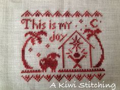 Image result for this is my joy cross stitch