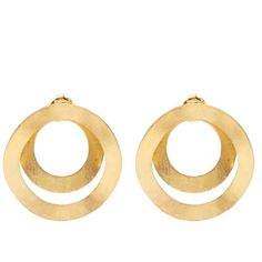 Anissa Kermiche Fair Trade yellow-gold earrings (€1.655) ❤ liked on Polyvore featuring jewelry, earrings, gold jewelry, gold hoop earrings, fair trade jewelry, hoop earrings and gold earrings jewelry