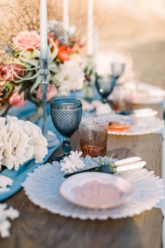 Beautiful table settings by http://www.onlyforyouevents.com