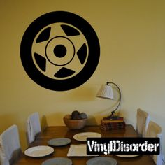 Tire Rim Wall Decal - Vinyl Decal - Car Decal - DC017