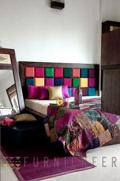 Colorful Headboard. Furnicheer, Mumbai {Furniture Brand/Store}|The Keybunch Decor Blog|