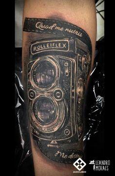 Rolleiflex camera #leandromoraestattoo