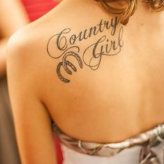 Country Girl Horseshoe Tattoos For Girls