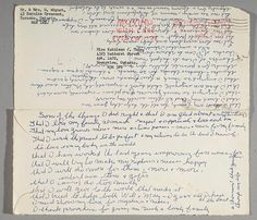 """On an envelope dated May Kathleen Munn listed """"some of the things I did right and … my present thinking."""" Art Gallery of Ontario. Art Gallery Of Ontario, Group Of Seven, Canada, Canadian Artists, Online Art, Biography, Book Art, Envelope, Life"""