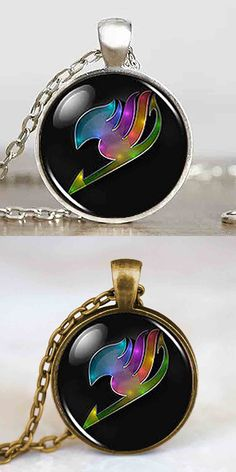 JP Anime Fairy Tail Guild Marks Rainbow Wing Pendant Steampunk Necklace doctor dr who 1pcs/lot chain jewelry women vintage chain