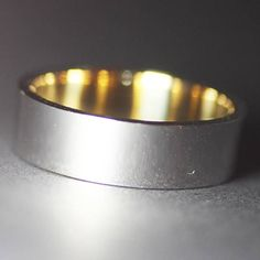 Men's gold band/Yellow gold band/White gold wedding