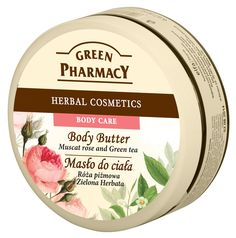 Green Pharmacy Body Butter Muscat Rose and Green Tea Musk Rose, Green Coffee Extract, Shea Body Butter, Dry Sensitive Skin, Green Clay, Argan Oil, Pharmacy, Body Care, Body Creams