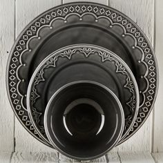 Grey Marie Ceramic Dinnerware - DISHWARE - DINING + KITCHEN