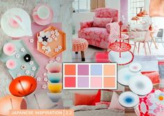This theme has a contemporary feel. The atmosphere is friendly and soft, without being too sweet or romantic.Mood board by Milou Ket. Home Trends, 2016 Trends, Design Trends, Colour Trends, Color Themes, Colorful Interiors, House Design, Table Decorations, Contemporary