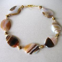 Agate Pink and Brown Semi Precious Stones