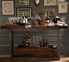 .too rustic, but example of bar made of found piece(s)