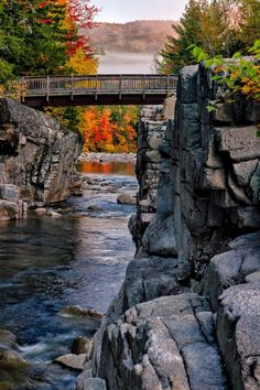 Rocky Gorge, New Hampshire, USA (by Don Gargano) I've actually jumped from those rocks into the river! Love summer in the white mountains! Places Around The World, The Places Youll Go, Places To See, Around The Worlds, Vacation Places, Vacation Destinations, Vacation Spots, Vacation Ideas, New Hampshire