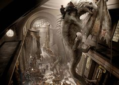 Andrew williamson; Artist who did artworks of the Harry potter series, painter, digital art, landscapes, portraits Escape from Gringotts