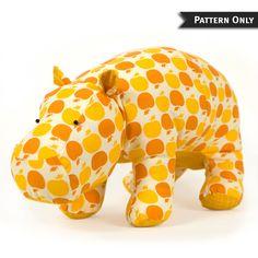 Hippo Heather Stuffed Pattern PDF by FunkyFriendsFactory