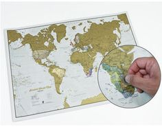 Scratch World Map - gifts for friends