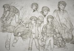 Hiccup Sketchdump #6 by MonoFlax