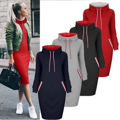 Women Hoodies Pullover Long Sleeve Jumper Sweater Hooded Sweatshirt Winter Tops in Clothing, Shoes & Accessories, Women's Clothing, Sweats & Hoodies Hoodie Sweatshirts, Pullover Hoodie, Hoodies, Winter Tops, Bodycon, Hooded Jacket, Jumper, Clothes For Women, Long Sleeve