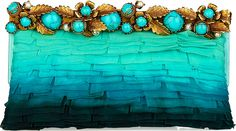 Valentino embellished ombre chiffon clutch in blue Very Valentino, Valentino Women, Mode Statements, Flora Und Fauna, Lesage, Shades Of Turquoise, Partys, Womens Purses, Necklaces