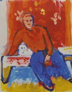 Robert De Niro Sr. Robert De Niro Sr.'s painting 'Seated Figure, Orange Shirt'