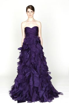 Monique Lhuillier 2012 Fall Collection. Purple wedding dress?