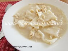 The Country Cook: Old-Fashioned Chicken and Dumplings- I made these gluten free and they were amazing!