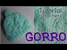 Como tejer un gorro a crochet - YouTube
