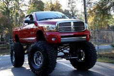 Now that's one heck of a lifted truck:) Jacked Up Trucks, Ram Trucks, Dodge Trucks, Diesel Trucks, Cool Trucks, Pickup Trucks, Dodge Ram Pickup, Dodge Cummins, Lifted Dodge