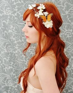 i <3 flower crowns and butterflies