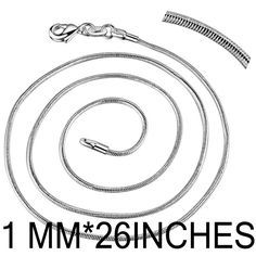 10pcs/lot Promotion!wholesale Free shipping silver plated chain,sterling-silver-jewelry Snake Chain 1mm 26/28/30 inches Necklace