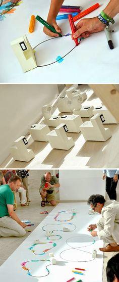 Desenho + cor = som #música #music #criatividade #creativity #dt #design #thinking
