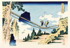 Katsushika Hokusai - #005 - Hietsu no Sakai Tsurihashi in Etchu Province