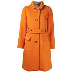 SOFIE D'HOORE 'Cherbourg' coat ($765) ❤ liked on Polyvore featuring outerwear, coats, jackets, orange, wool coat, orange coat, woolen coat, single breasted wool coat and orange wool coat