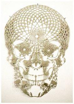Crochet Skull Doily