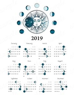 Items similar to 2019 Moon Phase Calendar Vintage Sun Moon Equinox Solstice Astronomy Space Celestial Boho Astrology Lunar Cycle Moon Phases Home Decor on Etsy – Anastasia - Space Bullet Journal 2019, Bullet Journal Inspiration, Moon Moon, Moon Phases, Lunar Moon, Constellations, Moon Phase Calendar, Wall Calendars, Calendar Calendar