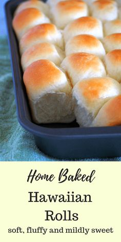 Make these delicious Hawaiian Rolls at home. They are fluffy, slightly sweet and… Make these delicious Hawaiian Rolls at home. They are fluffy, slightly sweet and buttery making them perfect on their own, with a pat of butter or as a side to your meals. Hawaiian Buns, Hawaiian Sweet Rolls, Bread Bun, Bread Rolls, Easy Bread, Braided Bread, Bread And Pastries, The Best, Food And Drink