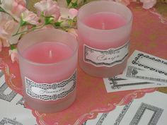 Love this for party favors or house warming gifts...Clip art candles!