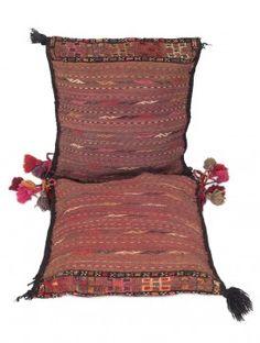 Multi-Color Wool Kazak Kilim Saddle Bag 50in x 22in