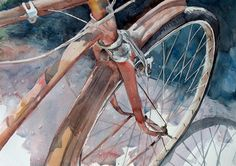 Bicycle Art Print from my original Watercolor by nanogallery, $75.00