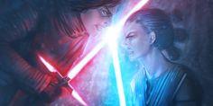 Rey vs Kylo Ren by imGuss