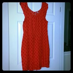 Orange and burgundy cap sleeve dress Cap sleeve dress with elastic waist and tie at the back of the neck Old Navy Dresses