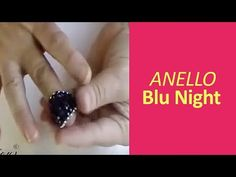 Anello Blu Night Swarovski in Argento 925 - Prima parte - Art Bijoux Beaded Jewelry Patterns, Beading Patterns, Diy Beaded Rings, Embroidery Works, Ring Tutorial, Peyote Beading, Beads And Wire, Beading Tutorials, Bead Art
