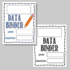 Student Data Binder for Tracking Progress in the Classroom FREE from The Curriculum Corner | editable forms